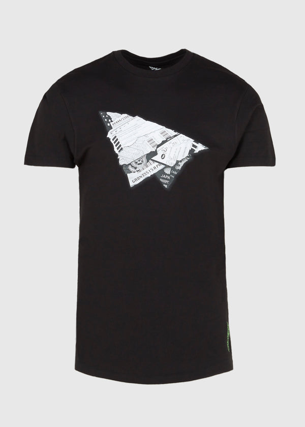 PAPER PLANES: WORLD EXPLORER TEE [BLACK]