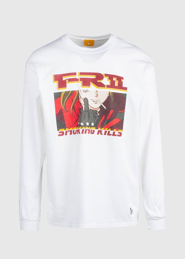 FXXKING RABBITS: THE FINGER LS TEE [WHITE]
