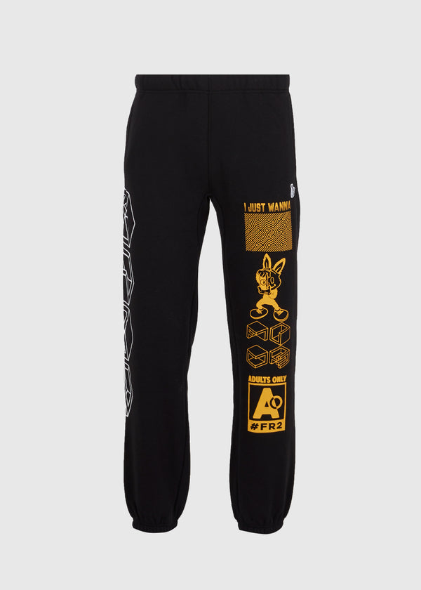 FXXKING RABBITS: EXPLICIT SWEATPANTS [BLACK]
