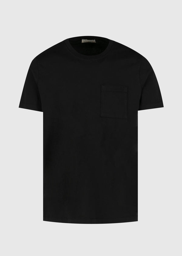 NUDIE: ROY ONE POCKET TEE [BLACK]