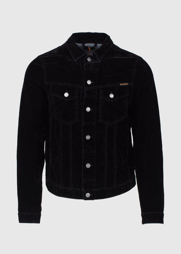 NUDIE JEANS CO.: BILLY VELVET JACKET [BLACK]