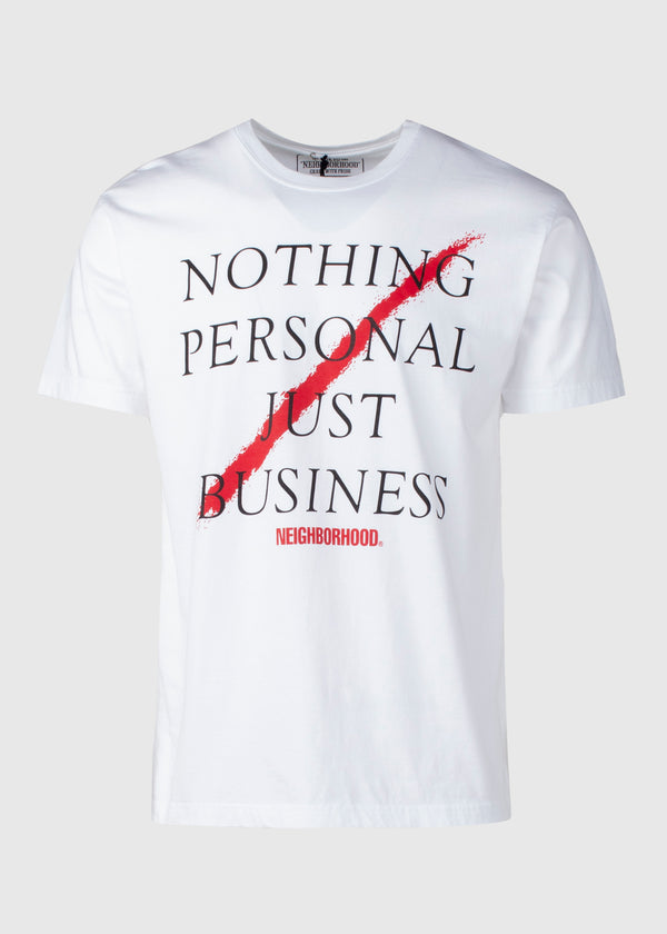 NEIGHBORHOOD: BUSINESS SS TEE [WHITE]