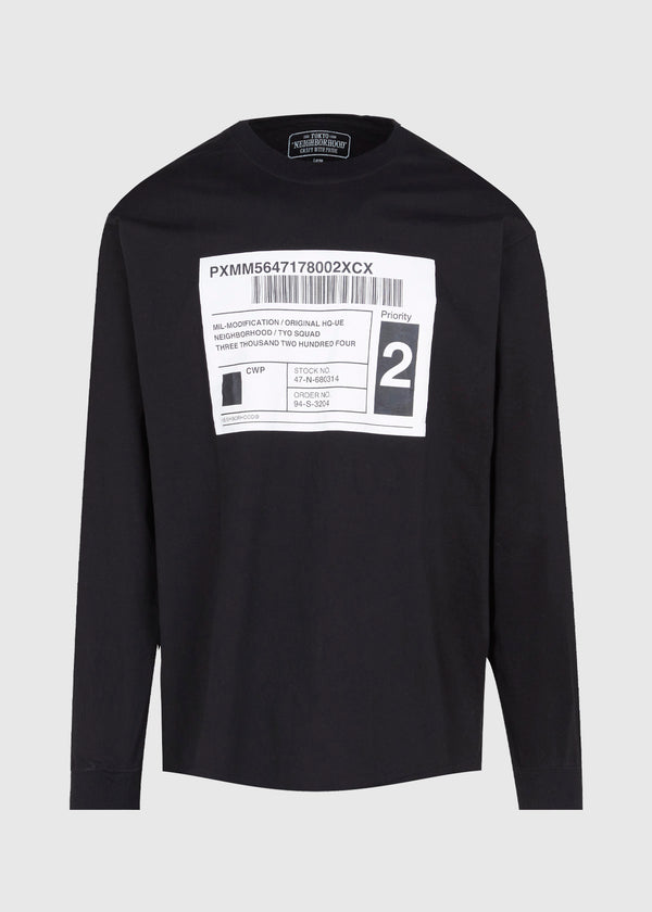 NEIGHBORHOOD: SPEC LS TEE [BLACK]