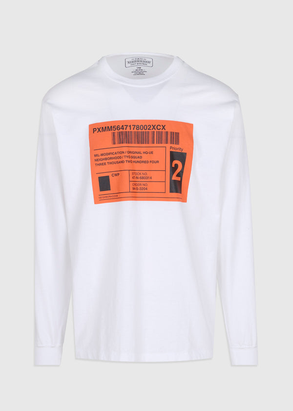 NEIGHBORHOOD: SPEC LS TEE [WHITE]