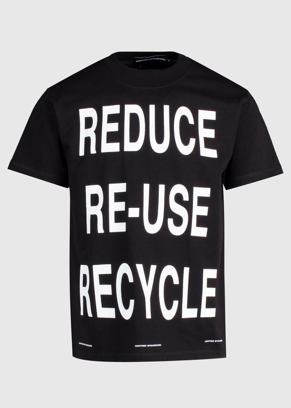 UNITED STANDARD: VIRGIL RECYCLE TEE [BLACK]