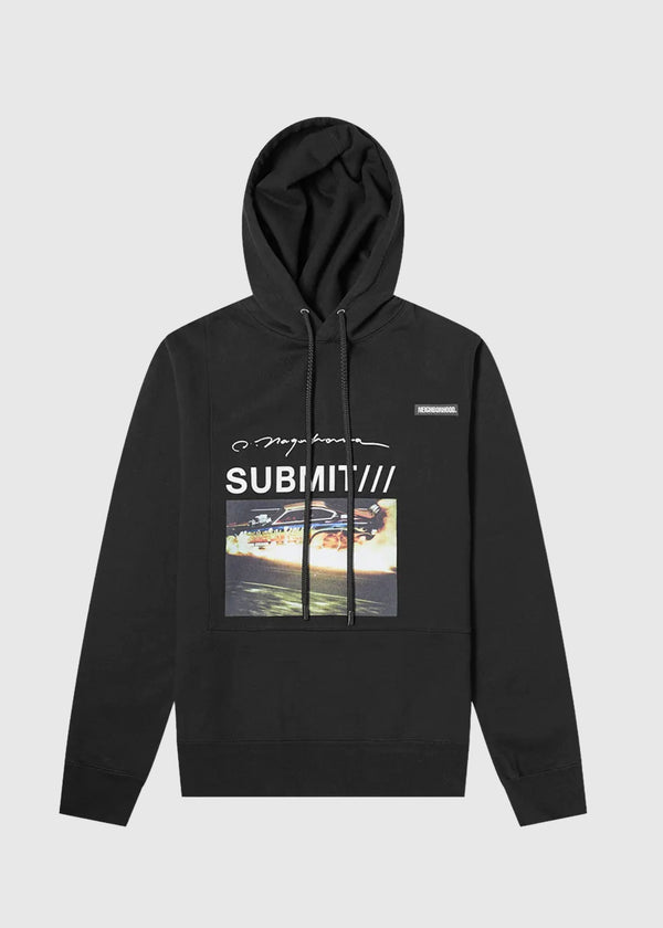 NEIGHBORHOOD: HOODIE LS [BLACK]