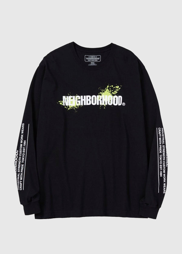 NEIGHBORHOOD: REIGN LS TEE [BLACK]