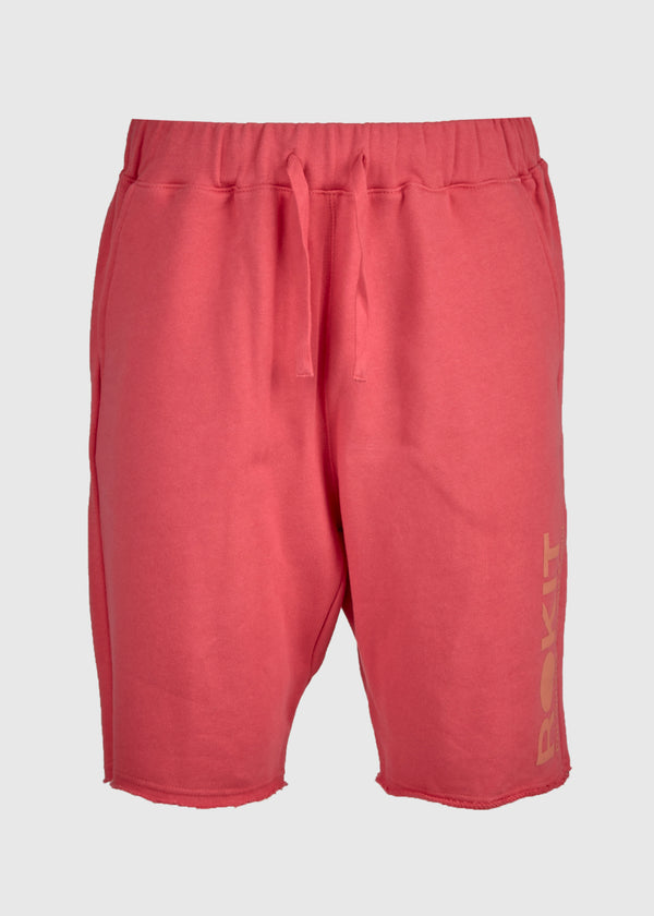 ROKIT: DIVER FLEECE SHORT [RED]