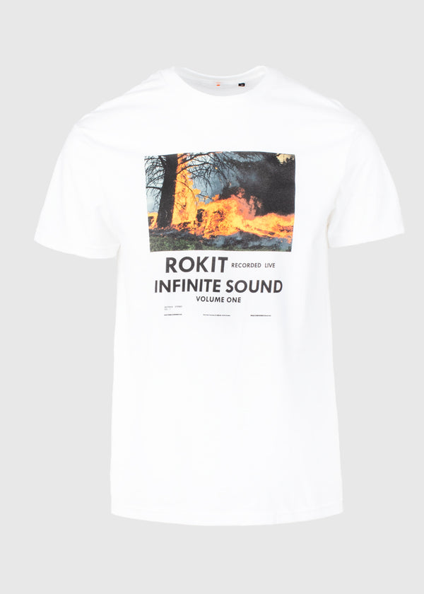 ROKIT: CATACLYSM TEE [WHITE]
