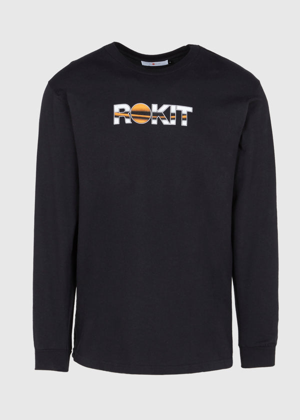 ROKIT: ORNAMENT LS TEE [BLACK]