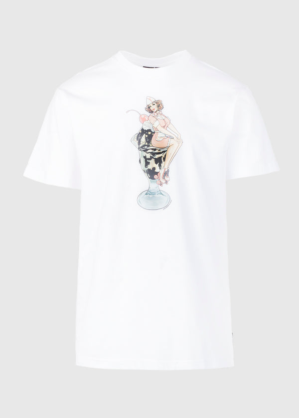ICE CREAM: SUNDAE SS TEE [WHITE]