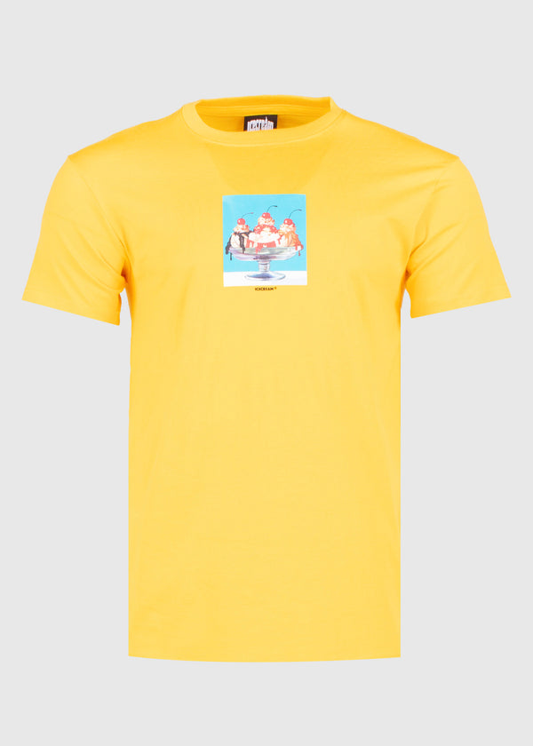 ICECREAM: SPLIT SS TEE [YELLOW]