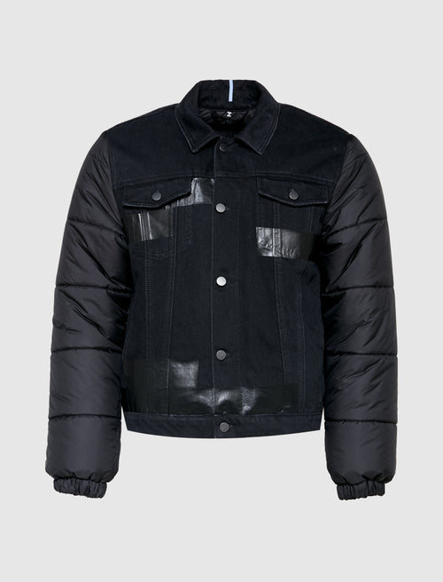 DENIM PUFFER HYBRID JACKET