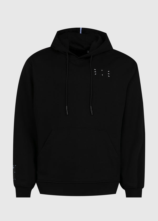 MCQ: RELAXED HOODIE [BLACK]
