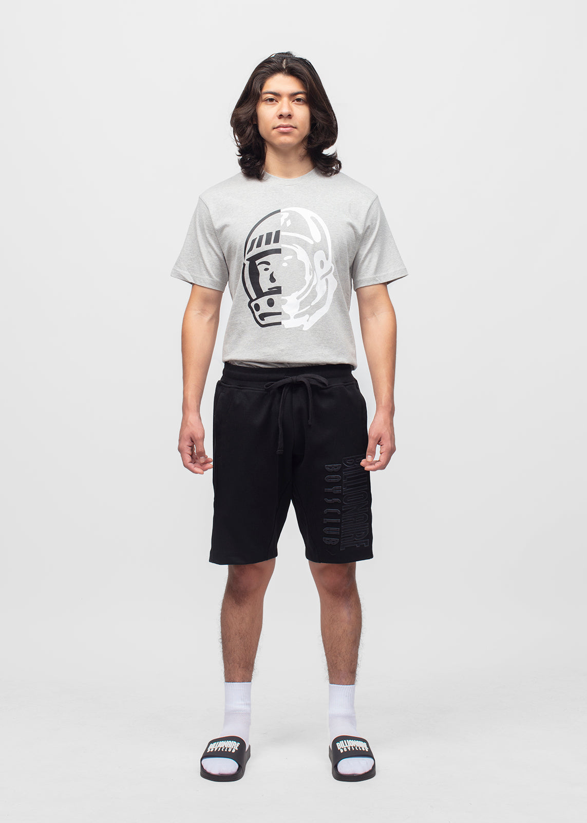 BILLIONAIRE BOYS CLUB: STRAIGHT FONT SHORTS [BLACK]