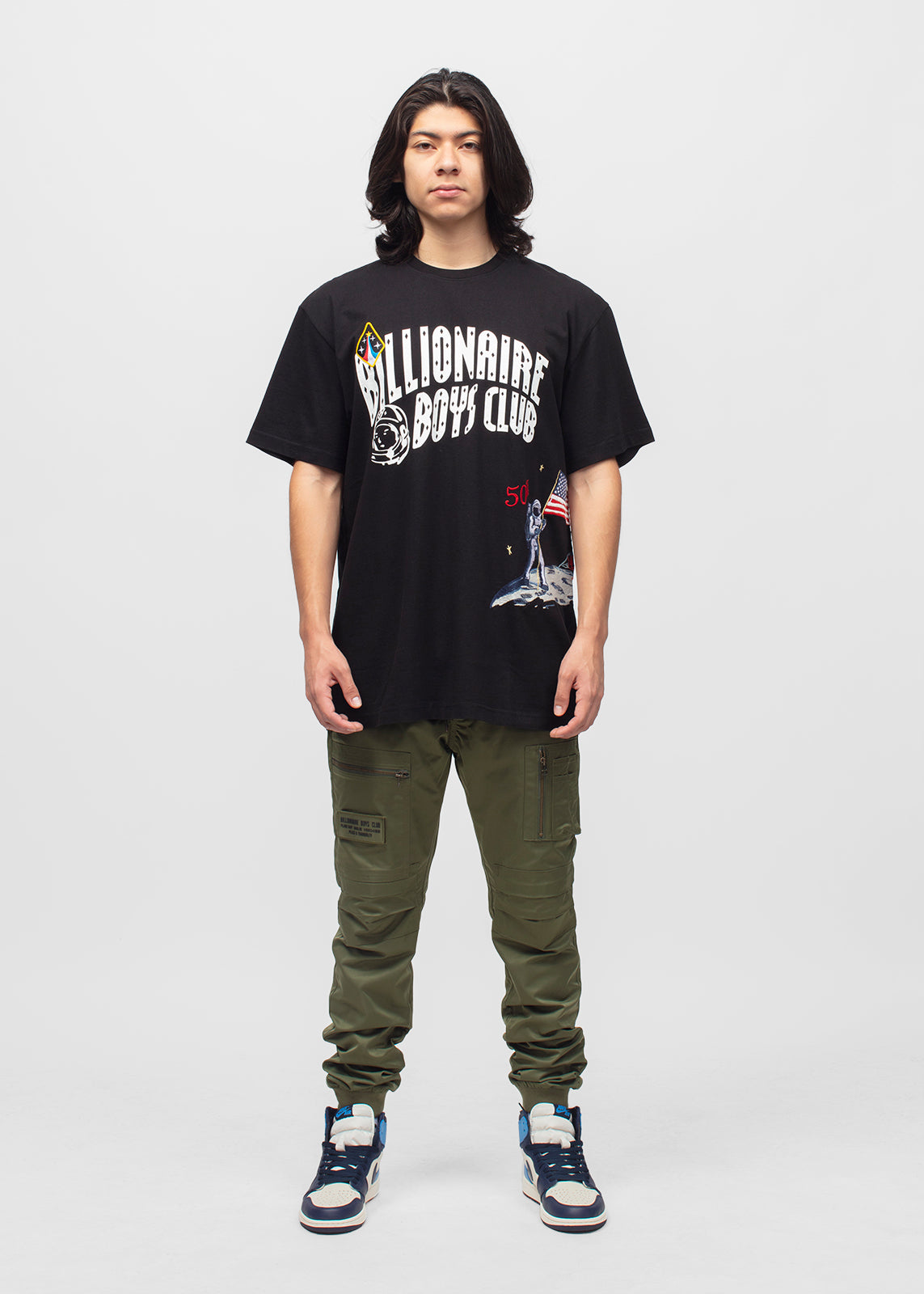 BILLIONAIRE BOYS CLUB: MOONWALK SS TEE [BLACK]
