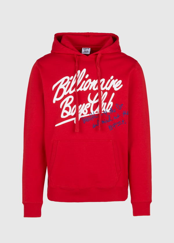 BILLIONAIRE BOYS CLUB: MIND HOODIE [RED]