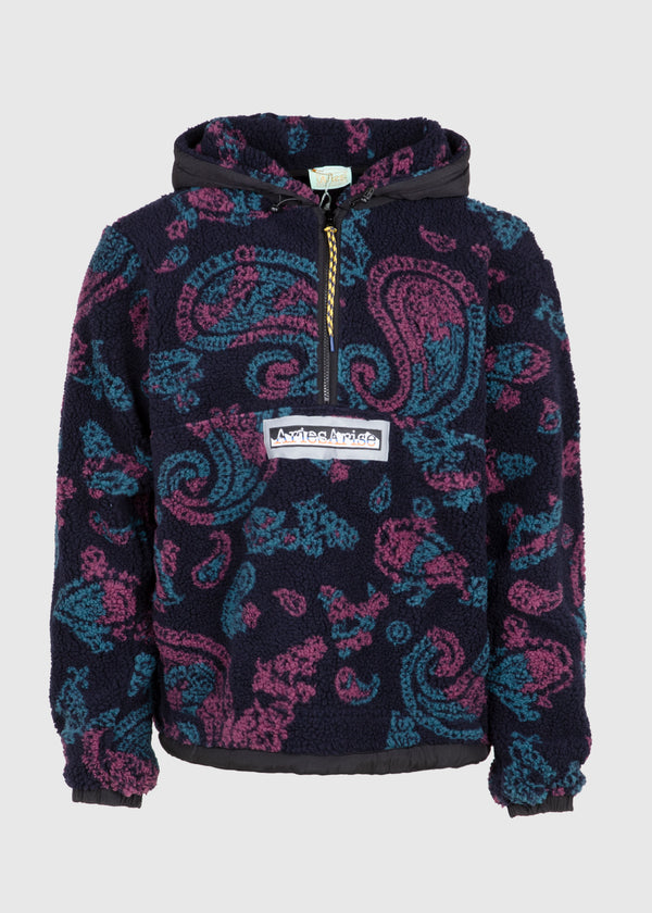 ARIES: HALF-ZIP FLEECE [PAISLEY]