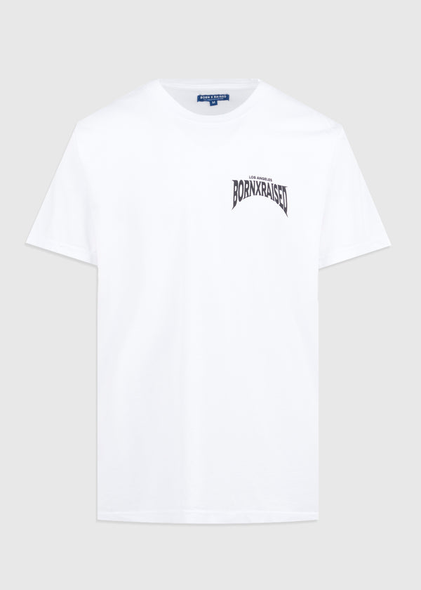 BORN X RAISED: DOG POUND TEE [WHITE]