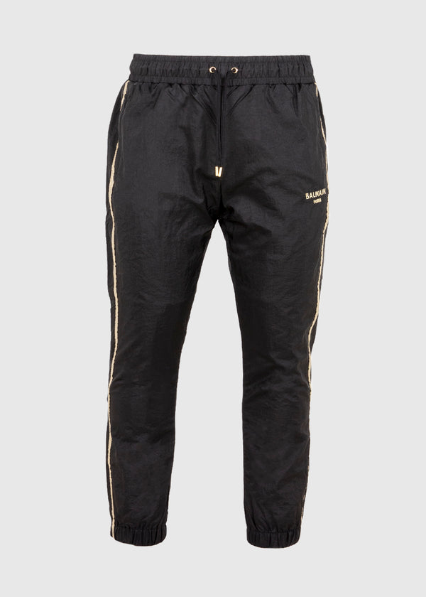 PUMA: PUMA X BALMAIN TRACKPANTS [BLACK]