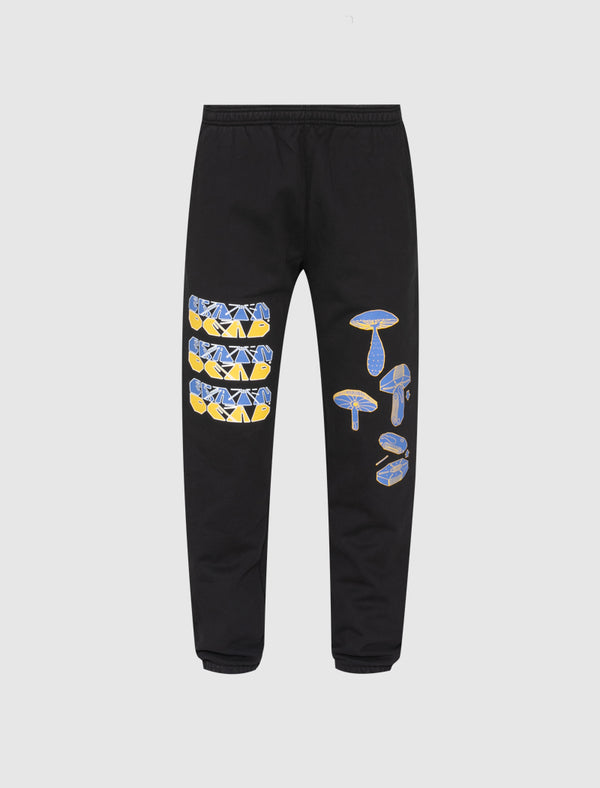 BRAINDEAD: FUNGISPHERE SWEATPANTS [BLACK]