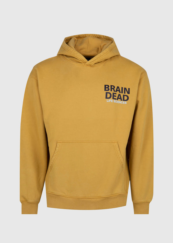 BRAIN DEAD: BREAK THROUGH HOODIE [YELLOW]