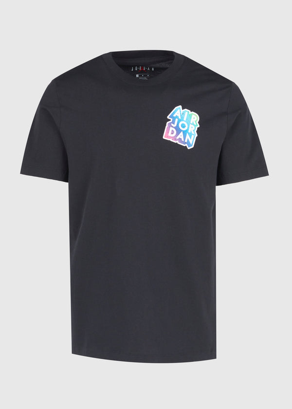 JORDAN: AJ STICKER TEE [BLACK]