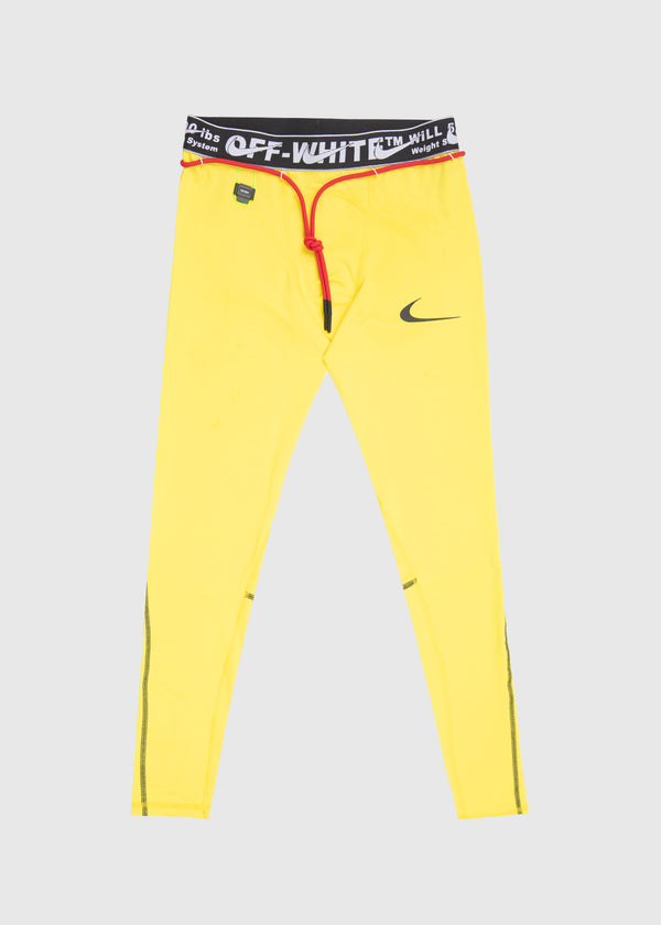 NIKE X OFF-WHITE: MEN'S TIGHTS [YELLOW]