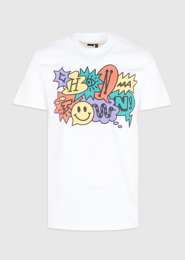 CHINATOWN MARKET: SPEECH BUBBLE TEE [WHITE]