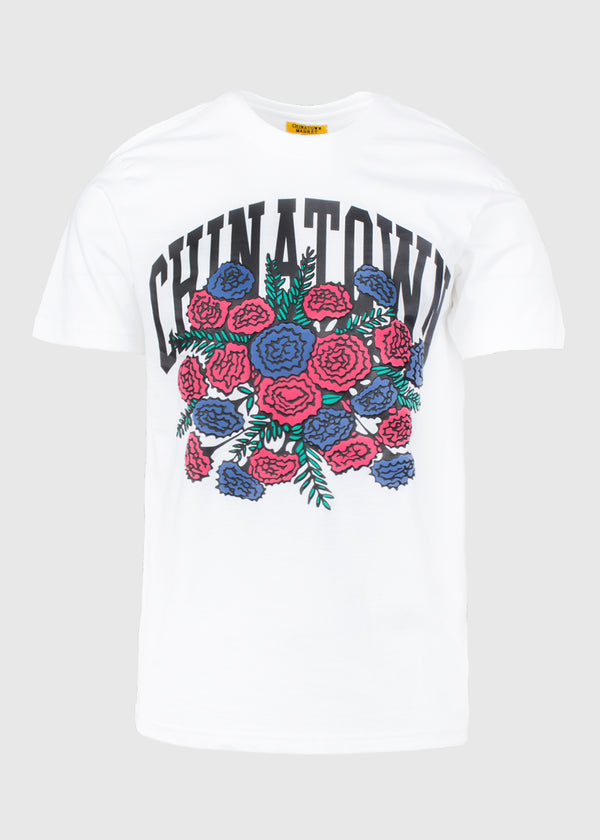 CHINATOWN MARKET: BOUQUET SS TEE [WHITE]