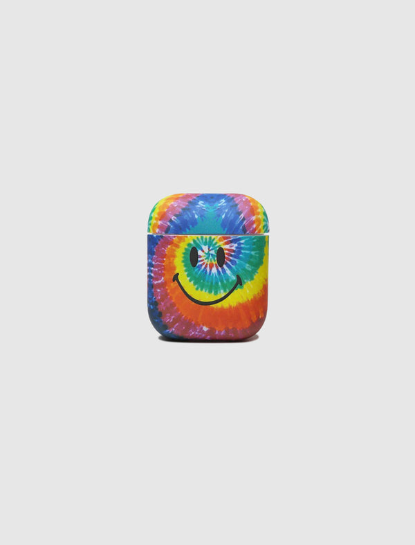 SMILEY TIE DYE AIRPOD CASE