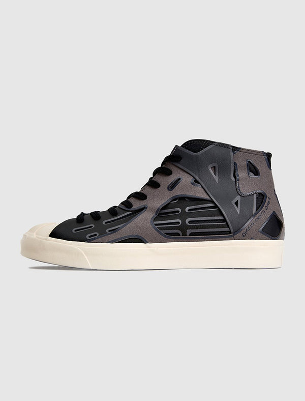 CONVERSE X FENG CHEN WANG: JACK PURCELL MID TOP [BLACK]