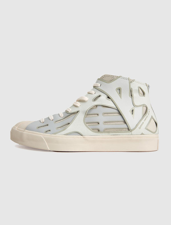 CONVERSE X FENG CHEN WANG: JACK PURCELL MID TOP [WHITE]