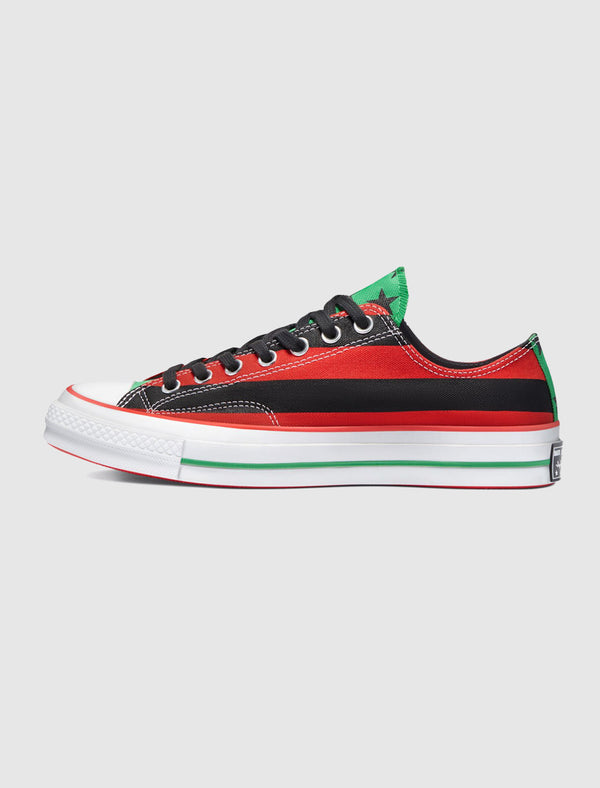 CONVERSE X DENIM TEARS: CHUCK 70 LOW [BLACK/RED] C