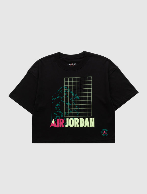 JORDAN: WOMENS WINTER UTILITY TEE [BLACK]