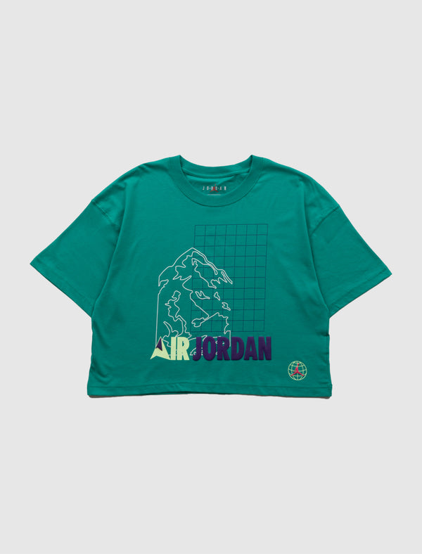 JORDAN: WOMENS WINTER UTILITY TEE [GREEN]