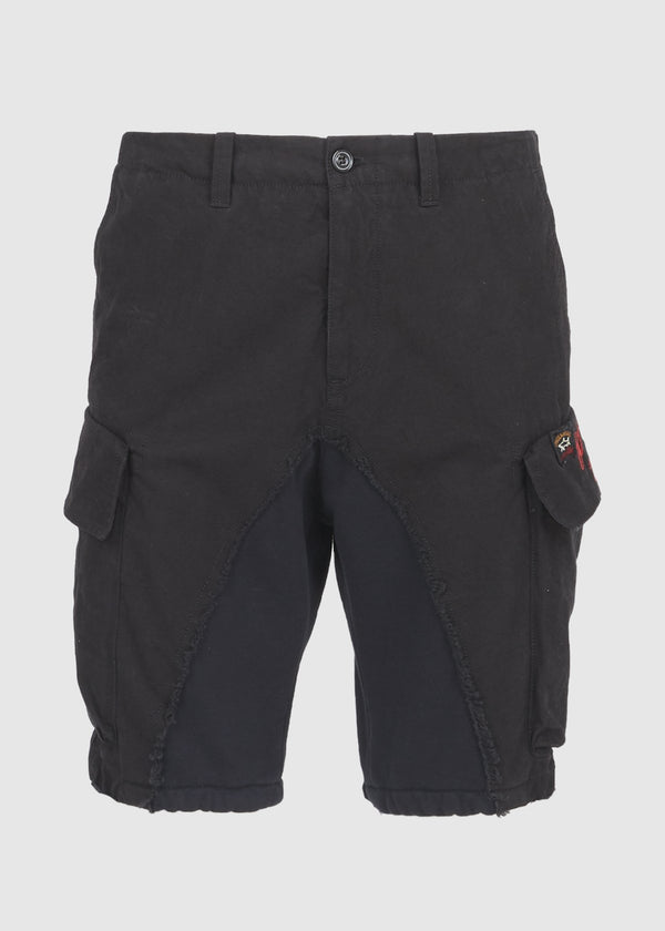 PAUL & SHARK X GREG LAUREN: 50/50 SHARK SHORT [BLACK]