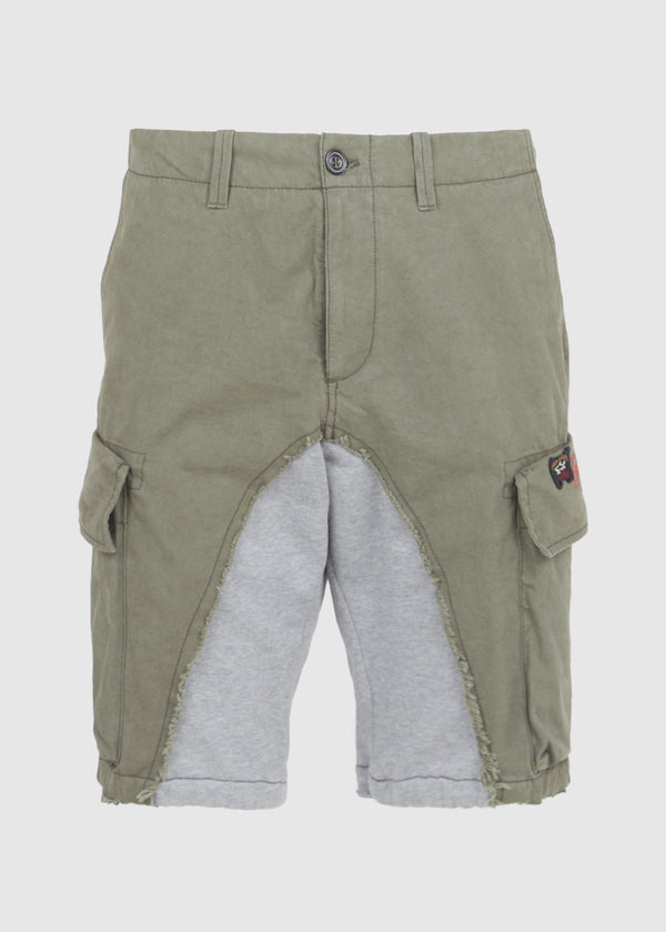 PAUL & SHARK X GREG LAUREN: 50/50 SHARK SHORT [GREEN]