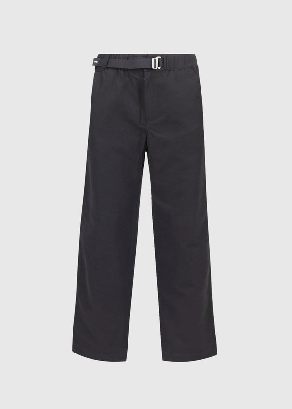 KENZO: STRAIGHT LEG BELTED PANT [BLACK]