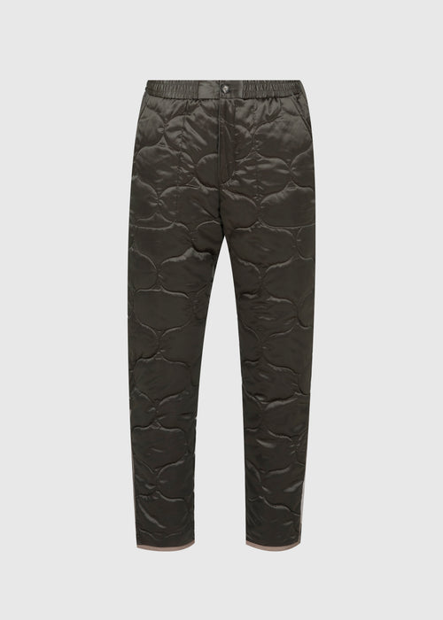 KENZO: QUILTED JOGGER PANTS [OLIVE]