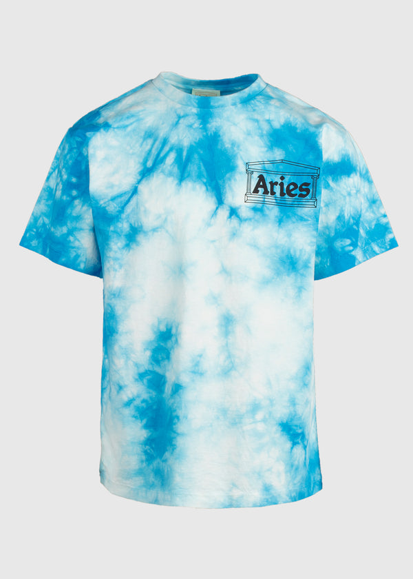 ARIES: TEMPLE TIE-DYE TEE [BLUE]