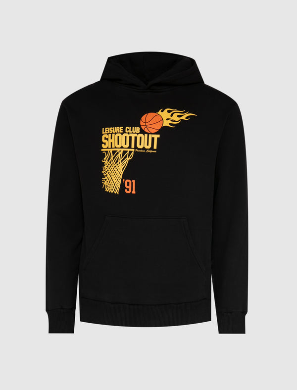 PASADENA LEISURE CLUB: PLC SHOOTOUT HOODIE [BLACK]