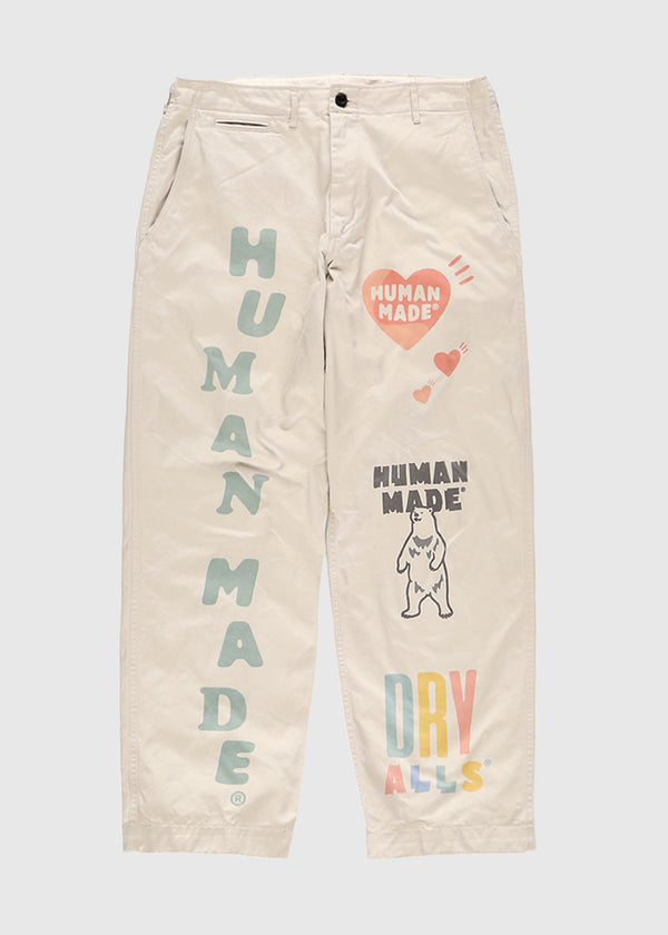 HUMAN MADE: MILITARY PRINT CHINO [BEIGE]