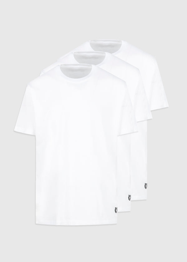 HUMAN MADE: 3 PACK T-SHIRTS [WHITE]