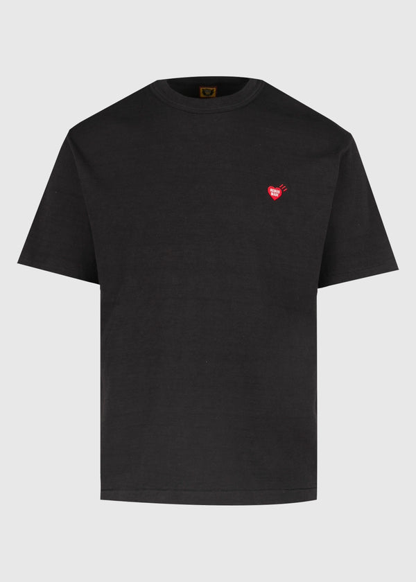 HUMAN MADE: HEART POINT TEE [BLACK]