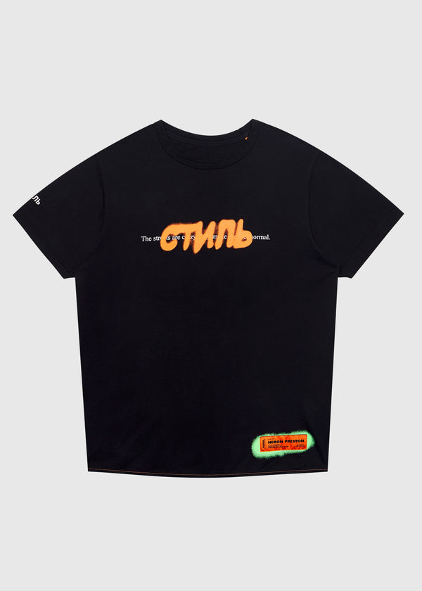 HERON PRESTON: CTNMB SPRAY TEE [BLACK]