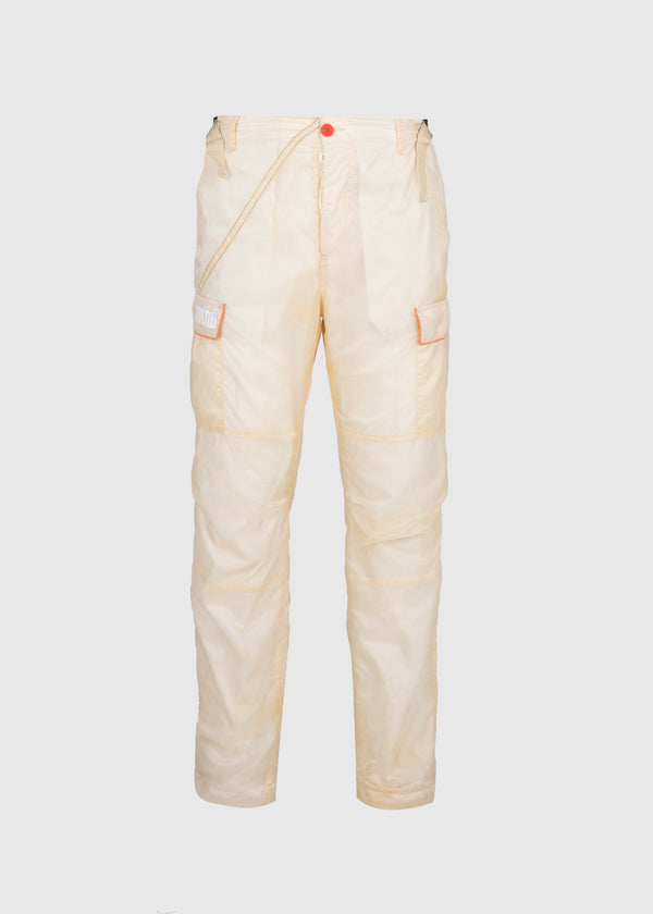 HERON PRESTON: PARACHUTE CARGO PANTS [WHITE]