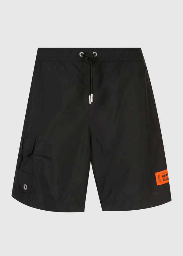 HERON PRESTON: NYLON SHORTS [BLACK]