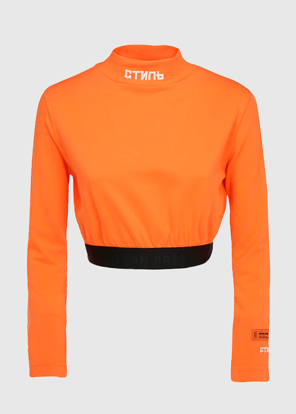 HERON PRESTON: CROPTOP LS TEE [ORANGE]