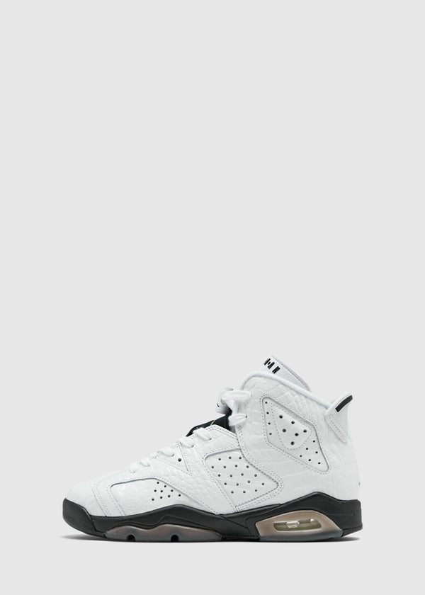 JORDAN: AIR JORDAN 6 'ALLIGATOR' GS [WHITE]
